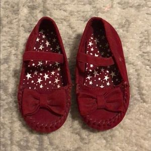 Red Moccasins Size 5